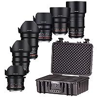 Samyang VDSLR, kit per Sony FE Mount camera–nero