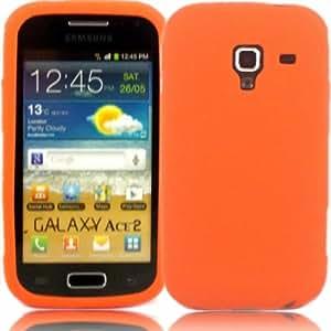 Silicona Caso Cubrir Concha Para Samsung Galaxy Ace 2 i8160 / Orange