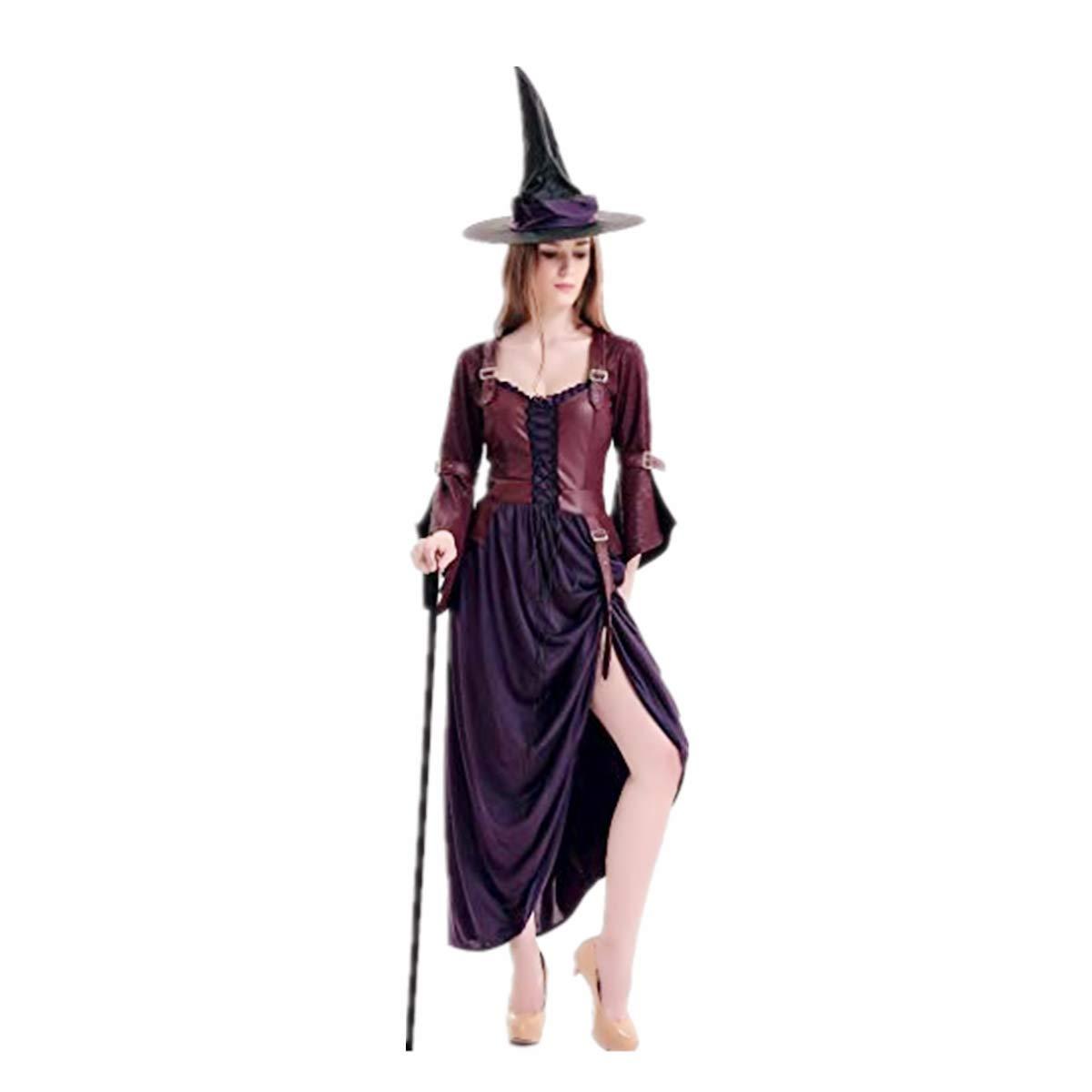 Goosun Disfraz De Bruja para Mujer con Sombrero Mujer Bruja ...