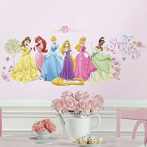 Disney Princesses A Sparkle Of Magic Removable & Repositionable Wall Decals