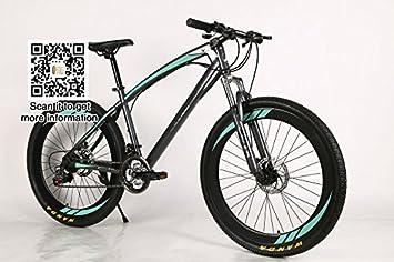 Yoli® 26 pulgadas, 21) velocidad bicicleta bicicleta de montaña de esquí de velocidad