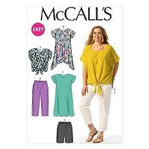 McCalls Easy Woman Sewing Pattern 6971 Top Tunic Dress Shorts Trouser 18W-24W