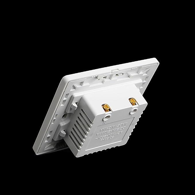 BIlinli Panel de Placa de Salida de Enchufe de Adaptador de Corriente AC//DC de Doble Enchufe de Pared USB