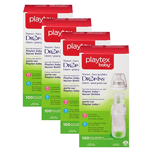 Playtex Breast (Playtex Drop-Ins Pre-Sterilized Soft Bottle Liners, 8-10 oz. 400 Count (8-10oz size))