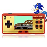 E-MODS GAMING 8 bit 2.8'' TFT LCD FC Retro Digital Games Portable Console Built-in 508+130 Games with Speaker - Red