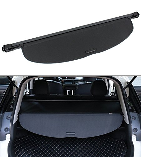 Cuztom Tuning for 2014-2018 Nissan Rogue SV SL Retractable Trunk Cargo Cover Security Shield -Black