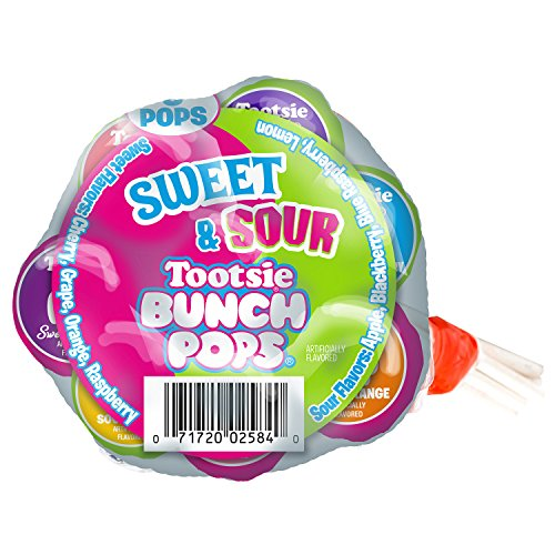 Tootsie Sweet Sour Bunch Pops - 8 Count (Sweet Lollipops Sour)