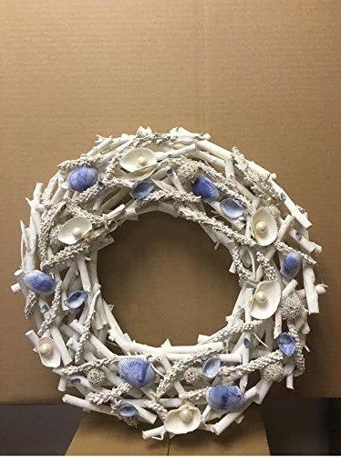 Blue-Seashells-Wreath-real-seashells