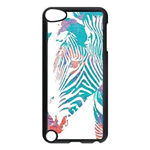 Beautifulcase Ipod Touch 5 case cover zebra head watercolor 9fKanIRr2e8 Black