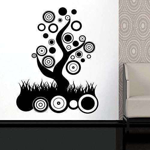 BailongXiao Calcomanía de árbol Abstracto círculo Sala de Estar Arte Pegatina de Vinilo decoración del hogar decoración de Pared clásica Mural 75x97cm