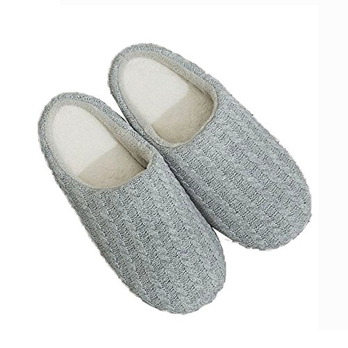 Slipper Knitted Lightweight Foam Women Home A Luobote Shoes Grey Memory Indoor Cashmere qtpB6T6Ww