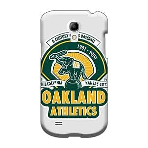 Protector Hard Cell-phone Case For Samsung Galaxy S4 Mini (eVj28713MWmn) Custom Vivid Oakland Athletics Series