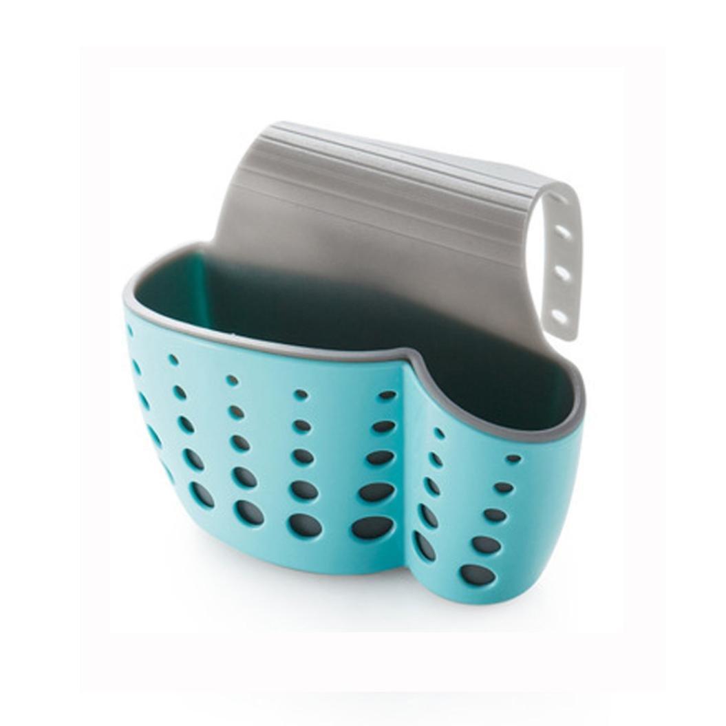 Drain Rack , Hunpta Useful Suction Cup Sink Shelf Soap Sponge Drain Rack Kitchen Sucker Storage Tool (A)
