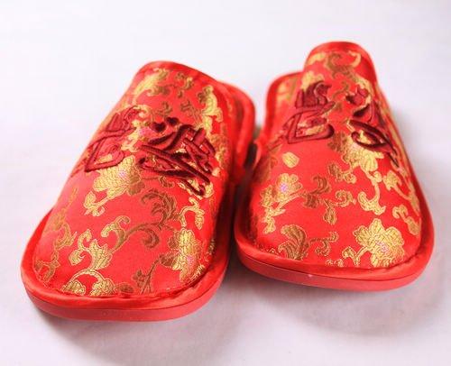 mariage Mariage chaussons produits maison chaussures de femme remorquage de mariage coton mari des d'été Chaussures broderie d'hiver couples en RqHwrYqC