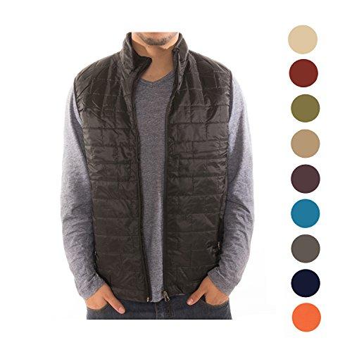 Altatac Mens Puffer Quilted Water Repellent Full Zipper Packable Vest Jacket Coat - NWT