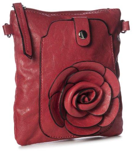 Big Handbag Shop - Bolso cruzados de sintético para mujer One Rojo