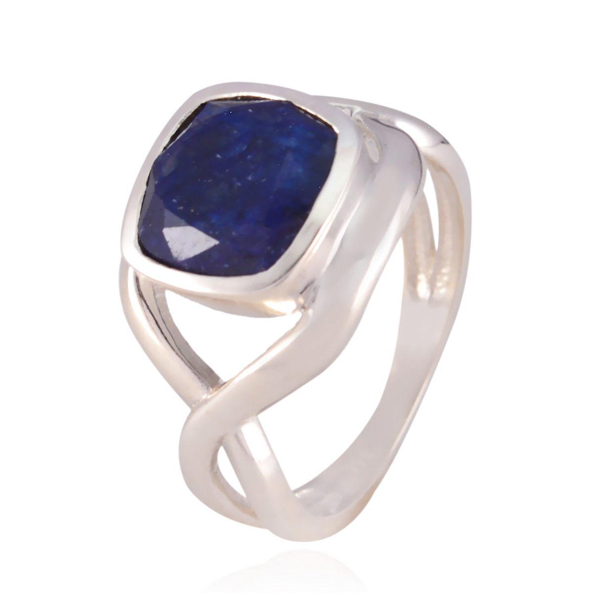 Nice Fashion Blue Indainsappire Natural Gemstone Ring Ornaments /& Accents Highest Selling Items Gift for Cyber Monday Phases of The Natural Gemstone Square Faceted Indainsappire Rings