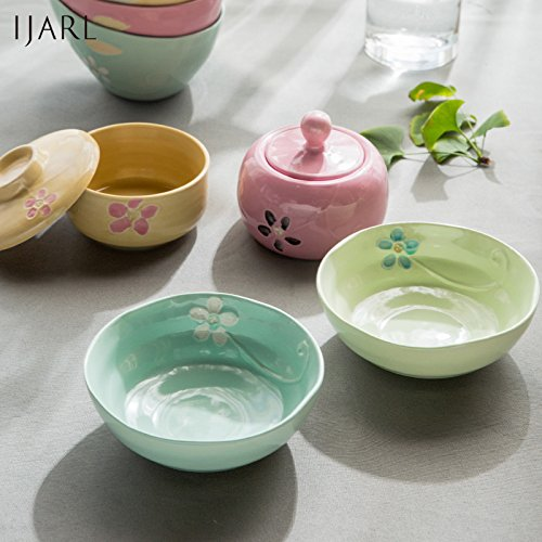 LDYMY Stylish and simple crockery law sea bowl rice bowl small bowl of rice yellow C