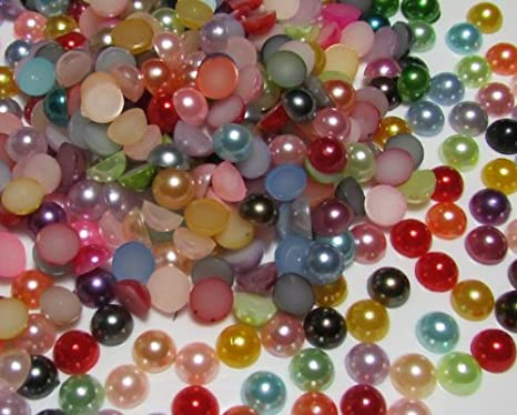 Flatback Pearls Multi Color