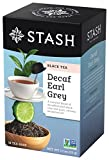 Stash Tea Decaf Earl Grey Tea 18 Count Tea Bags in Foil (Pack of 6) Individual Decaffeinated Black Tea Bags for Use in Teapots Mugs or Cups, Brew Hot Tea or Iced Tea