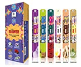 Chakra Flower Premium Aroma Sticks – Feel the Blossomy Aroma - 120 Incense Sticks - Use at Home Office - Pack of 6 Natural Fragrance Sticks – Long-lasting Scented Incense Sticks