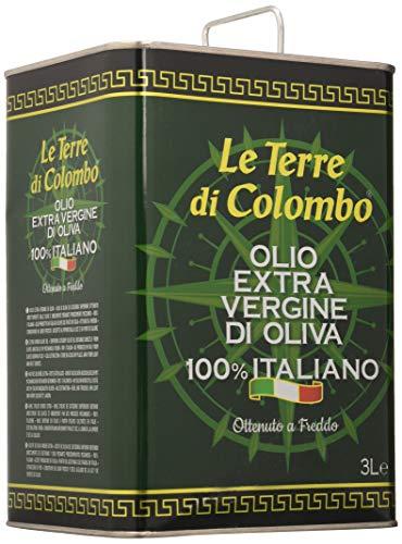 Le Terre di Colombo – 100% Italian Extra Virgin Olive Oil – Tin – 3 L