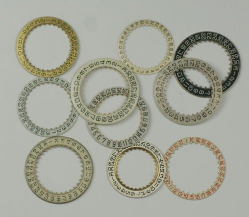 Chapter or Date ring assortment x12 Steampunk watchmakers repairs watch parts