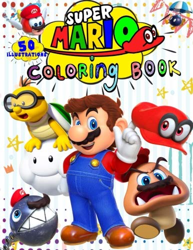 Super Mario Coloring Book: 50 - Illustrations]()
