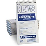 "Portage Reporter's Notebook, #200 Gregg Ruled, 70 Sheets, 4"" x 8"" (12 Pack)"