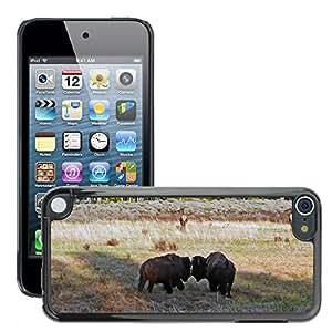Etui Housse Coque de Protection Cover Rigide pour // M00111944 Parque Nacional de Yellowstone Bisontes // Apple ipod Touch 5 5G 5th