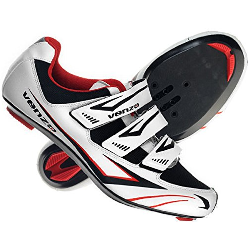 Cycling Shoes (Venzo Road Bike For Shimano SPD SL Look Cycling Bicycle Shoes 44)