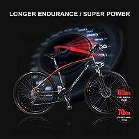 LANG TU bicicleta de montaña eléctrica de 26 pulgadas, marco y radios de aleación de aluminio, 240 W sin escobillas y de alta velocidad, batería de litio de 48 V 10 Ah,