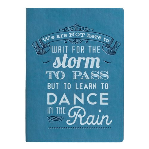 Eccolo World Traveler Essential Collection, 5 x 7 Inches Lined Journal, Blue Wait for the Storm (D316A)
