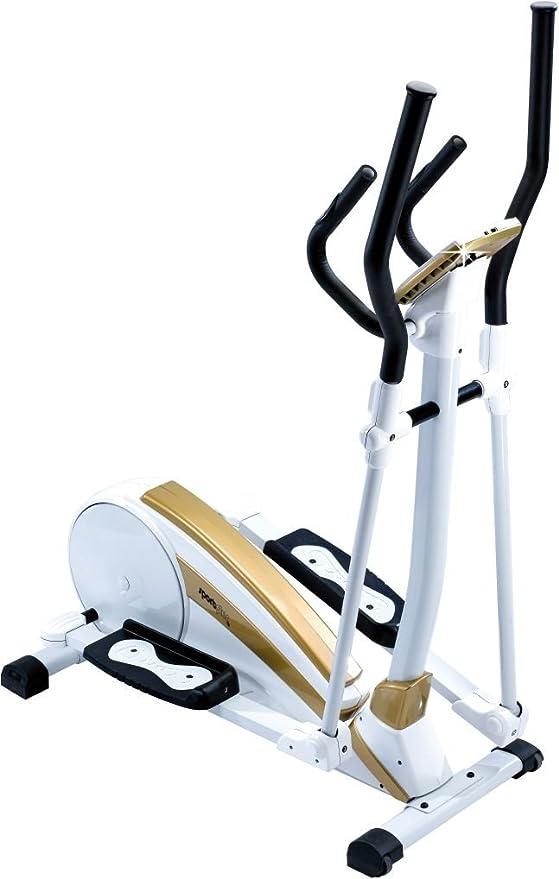 SportPlus Crosstrainer Sp-et-9700-e - Elíptica de fitness, color blanco / dorado: Amazon.es: Deportes y aire libre