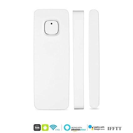 Smart Window Door Magnet Sensor Detector Compatible with Alexa Google Home  IFTT Controlled by Phone iPhone Tablet for Home Burglar Security Alarm
