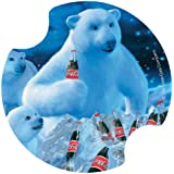 Thirstystone Coke Bears and Bottles Car Cup Holder Coaster, 2-Pack