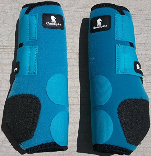 CLASSIC EQUINE LEGACY SMB BOOTS FRONT ALL SIZES & COLORS (Turquoise, Medium)