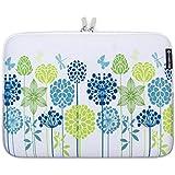 Caseling 14-Inch Neoprene Sleeve Pouch Case Bag for Laptop - Blue/ Green