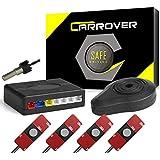 CAR ROVER® Sensor Aparcamiento Kit 4 13mm Sensor Marcha Atras con Zumbador Bibi Alarma de