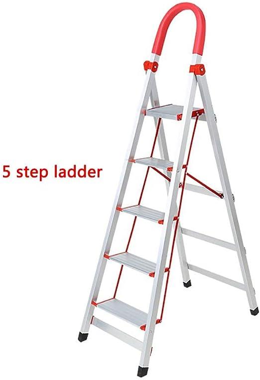 CHQYY Escalera Plegable - Escalera de casa 3/4/5 Escalera de Tijera Escalera de pie Escalera de Aluminio (Color : 5 Tiers): Amazon.es: Hogar