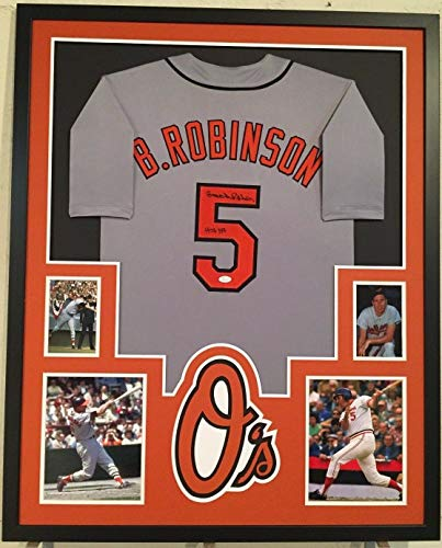 - FRAMED BROOKS ROBINSON AUTOGRAPHED SIGNED INSC BALTIMORE ORIOLES JERSEY JSA COA