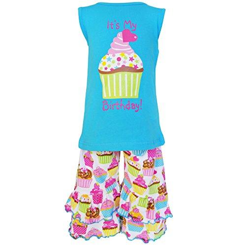AnnLoren Big Girls sz 7/8 Boutique Original Happy Birthday Cupcake Outfit