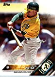 2016 Topps #111 Coco Crisp Oakland Athletics Baseball Card in Protective Screwdown Display Case