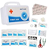 Semme First Aid Box Kits, 49 Pieces Medical Rescue Bag Case for Emergency & Survival Gear for Car, Home, Boat, Travel, RV, Cycling, Backpacking & Camping Essentials