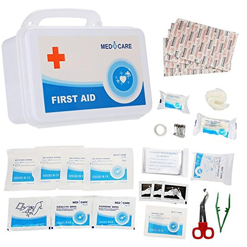 Semme First Aid Box Kits, 49 Pieces Medical Rescue Bag Case for Emergency & Survival Gear for Car, Home, Boat, Travel, RV, Cycling, Backpacking & Camping Essentials by Semme