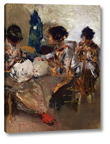 Venetian Lace Makers by Robert Frederick Blum - 11