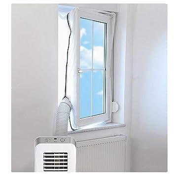 AirLock zum Anbringen an Fenster REDTRON Fensterabdichtung f/ür Mobile Klimager/äte Dachfenster Fensterabdichtung Klimaanlage 400CM Fl/ügelfenster Klimaanlagen W/äschetrockner und Ablufttrockner