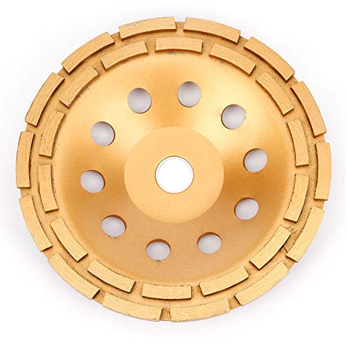 Aplus Diamond Cup Grinding Wheel, Double Row Diamond Grinder Disc for Concrete, Granite, Stone, Marble etc (9 Inch (230 mm)) ()