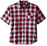Ecko Unlimited Men's Big and Tall Plaid Short Sleeve Woven Pattern 11
