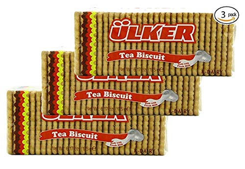 (Ulker Tea Biscuit, 6.17 (175 g) Ounce (Pack of 3))